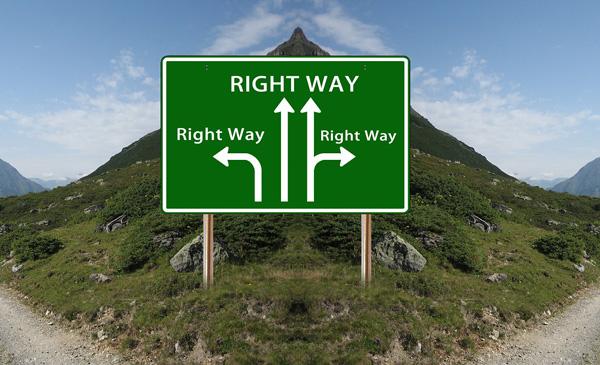 richtige und falsche Entscheidungen im Leben